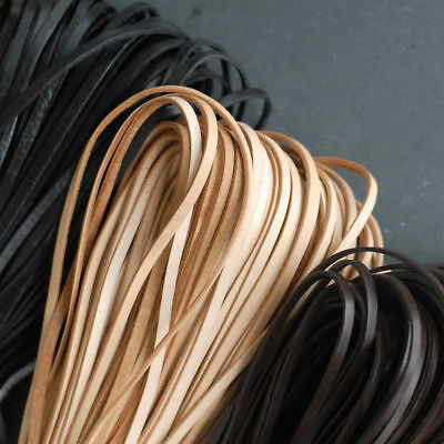 Flat leather cord, leather cord woven bracelet necklace DIY material 3mm to10mm