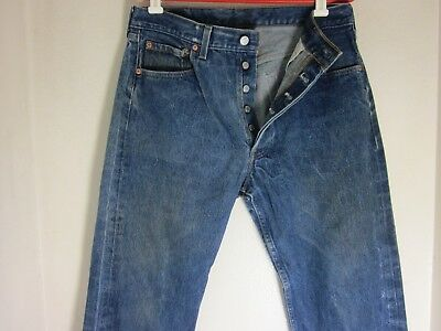 a8b0916eca6 Vintage Levis 501xx Made in USA Button Fly Straight Leg 32 x 29 SHRINK TO  FIT