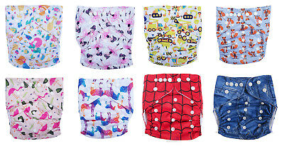 MULTIPLE NEW DESIGNS! Junior XL Reusable Modern Cloth Nappy + INSERT up to 20kg!