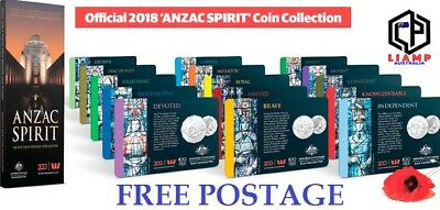 2018 Anzac Spirit Coin Collection 15Coins Full Set / Single - FREE POSTAGE