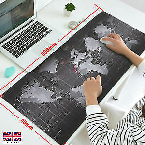 Large Non-Slip World Map Mousepad Speed Gaming Mouse Pad Laptop Mat Stationery