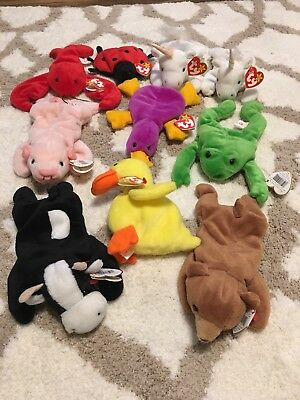 282703fa973 1993 Star Tag Beanie Baby Lot Of 10! Mint! Mystic