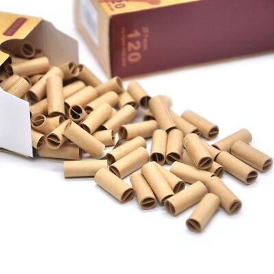 120x PRE ROLLED Natural UnRefined Cigarette Filter Rolling Paper Tips 7MM