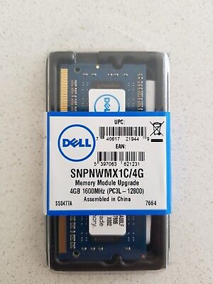 DELL 4GB RAM  PC3L12800 DDR3L DDR3 1600MHz 204PIN SODIMM  HP ACER ASUS SAMSUNG
