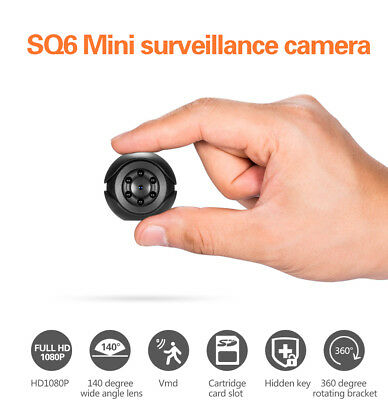 SQ6 HD 1080P Mini Hidden SPY Camera Video Recording Infrared Cam Night Vision RM