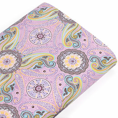 Cotton Fabric FQ Vintage Floral Retro Paisley Quilting Patchwork Craft Time VK63