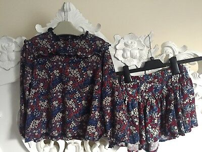 Next Girls Set 3-4 Years Top And Skort /shorts