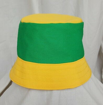New Norwich City style bucket hat. 1990 s football casuals. SZ SMALL. Retro. 505c832f398