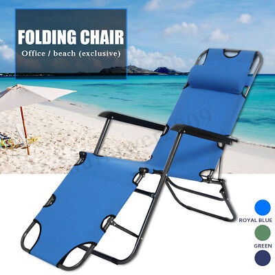 US Folding Chaise Lounge Chair Patio Outdoor Pool Beach Lawn Recliner Reclining