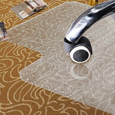 Office Chair Mat Carpet Floor Protector Heavy Duty Vinyl 90x120x 0.2cm NON SLIP