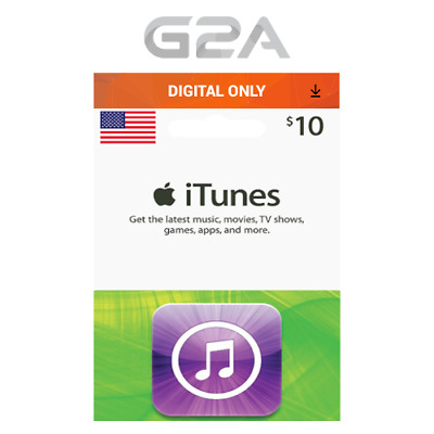iTunes Gift Card $10 USD Key - 10 Dollar US Apple Store Code for iPhone iPad Mac