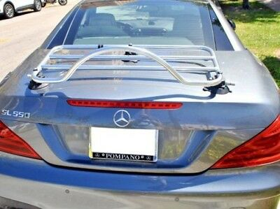 Mercedes SL Boot Trunk Luggage Rack ; No Clamps=No Damage