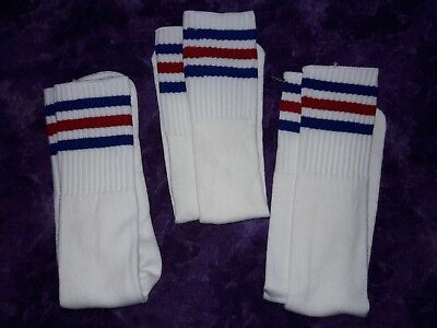 Authentic Vintage pair of 80s tube socks new in package NOS men's size 9-15