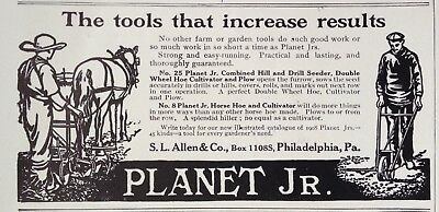 1908 Ad.(Xd1)~Planet Jr. No.25 Hill And Drill Seeder; No.8 Horse Hoe Cultivator