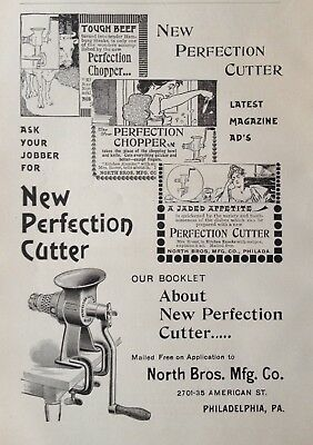 1897 Ad(1800-27)~North Bros. Mfg. Co. Phil., Pa. New Perfection Cutter Chopper