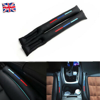 2X For BMW Car Sports Styling Seat Gap Filler Black PU Leather Accessory Spacer