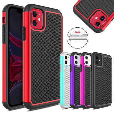 For Apple iPhone XR Hybrid Rubber Rugged Hard Shockproof Armor Phone Case Cover