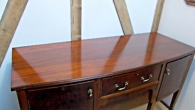 Bow Fronted Mahogany Sideboard Drinks Cabinet Cupboard