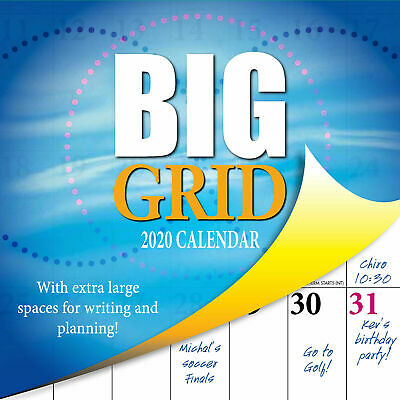 2020 Big Grid Square Wall Calendar by Bartel Extra Large Spaces 4 Planning RB011