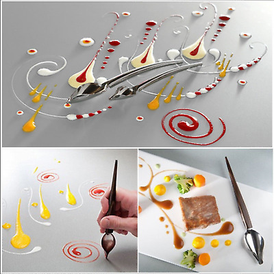 DIY Stainless Steel Chocolate Spoon Pencil Filter Cake Decoration Baking Tools