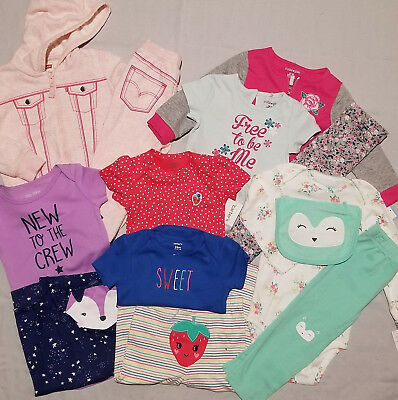 8ec27f0222e9 New Infant Baby Girl Outfit 13 pc Lot size 24 mo Carters Levi Okie Dokie