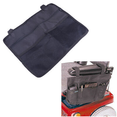 Wheelchair Wallet Bag Pocket Punch Case Scooter Armrest Bar Attach Bag Black