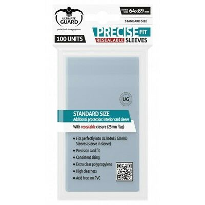 Ultimate Guard PRECISE-FIT Resealable Card Protectors Standard Size 64 x 89mm