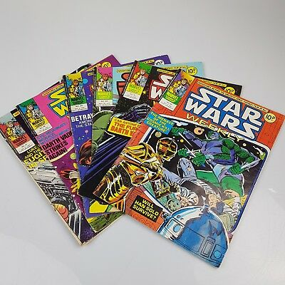 6x Vintage STAR WARS Weekly Comics Marvel UK Issues #40 42 43 44 46 & 47 (1978)
