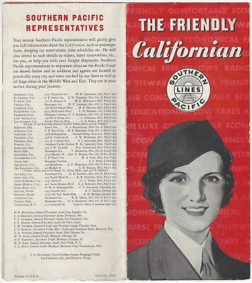 1939 Southern Pacific Railroad Brochure - The Californian