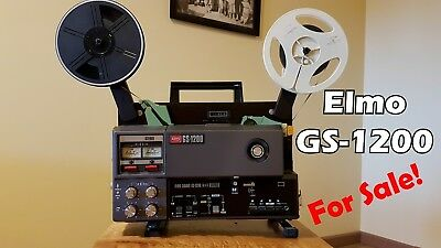 Elmo GS-1200 Super 8mm Sound Movie Projector (Standard)