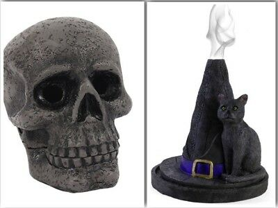 incense cone burner GIFT witches hat or skull Lisa Parker FREE CONES Halloween