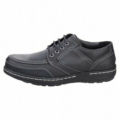 Hush Puppies Volley Victory Leather Lace Lace Up Shoes Black Mens Size Uk 13Wide