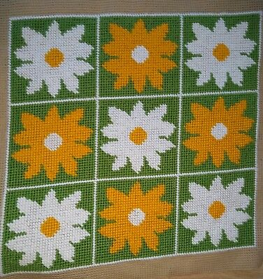 Modern Tapestry: Unique Handmade 'Sunflowers' Sampler