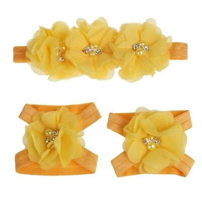 2X(Flower Headband Jiaotao Set for Baby Girls (Hot pink) T7R6)