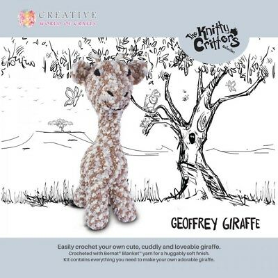 Knitty Critters ~ Geoffrey the Giraffe ~ Crochet Kit ~ Super Tall ~ 50cm ~ KC561