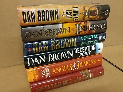 LOT OF 3 The Da Vinci Code Robert Langdon-Dan Brown HARDCOVER HC/DJ *RANDOM MIX*