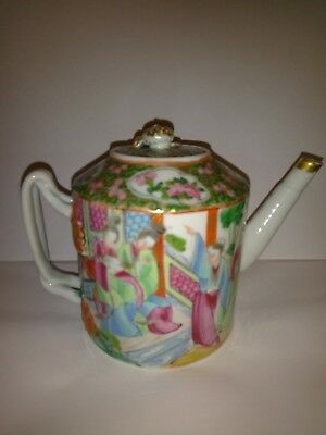 Small Early 20c Chinese Famille Rose Teapot