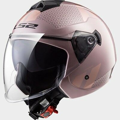 MCP 0002_305732114   LS2 CASCO JET TWISTER OF573 COMBO Pale Pink - 305732114