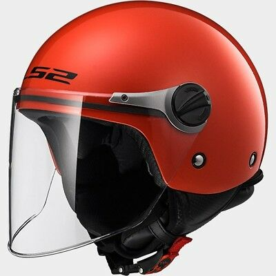 MCP 0002_30575J1032   LS2 CASCO JET BAMBINO SOLID OF575J SOLID Red - 30575J1032