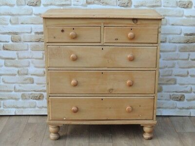 Antique Victorian Wooden Large Chest of Drawers (Delivery possible)