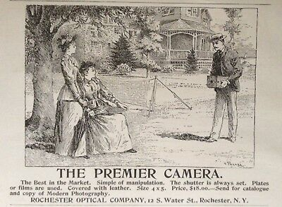 1892 Ad(1800-34)~The Premier Camera, Rochester Optical Co. Rochester, Ny.