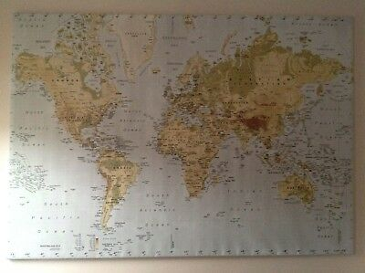 Ikea Map Premiar Large World Map Picture Atlas On Canvas 78 By 55