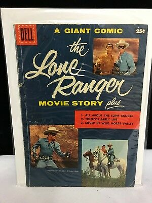 Dell Giant Comic The Lone Ranger Movie Story 1956 VF