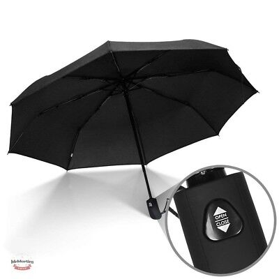 Compact Mens Umbrella Elegant High Quality Travel Strong Windproof Auto Open NEW