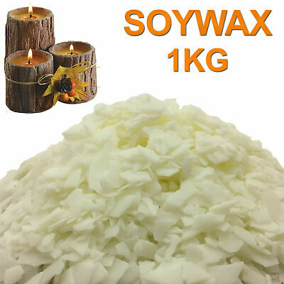 1Kg Soy wax / Soya Wax Flakes 100% Pure, Clean Burning, No Soot & 100pcs Wicks