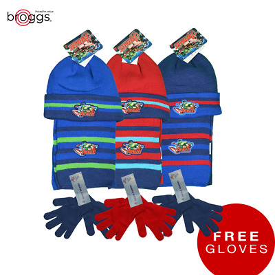 Boys Hat Scarf and GLOVES for FREE One-Size 4-8 Years Official Marvel Avengers
