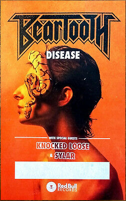 BEARTOOTH Disease 2018 Ltd Ed RARE Tour Poster +FREE Metal Rock Poster & Sticker