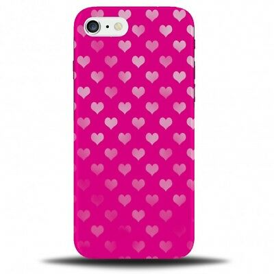 Hot Pink Love Heart Pattern Phone Case Cover | Polka Dotted Dots Dot Girly C103