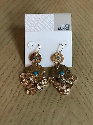a731159af82ff 14 TH & UNION Gold Tone Teardrop Earring From Nordstrom Rack