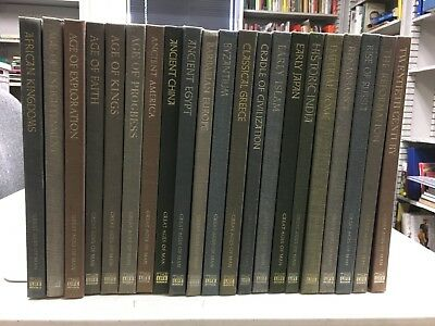 TIME-LIFE:  GREAT AGES OF MAN    Complete 21 Vol Set history -  HC,  GC